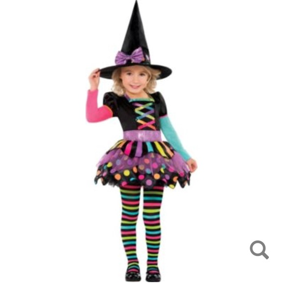 toddler miss matched witch costume